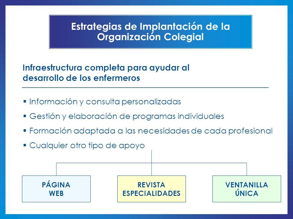 Estrategias de Implantación de la Organización Colegial