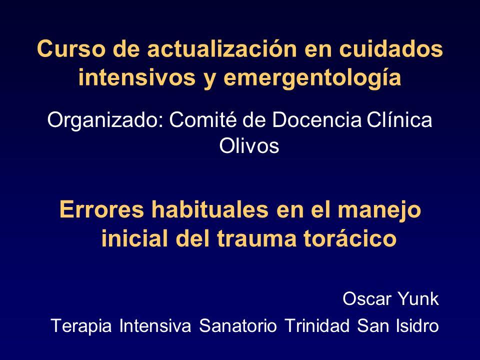 Curso de actualización en cuidados intensivos y emergentología