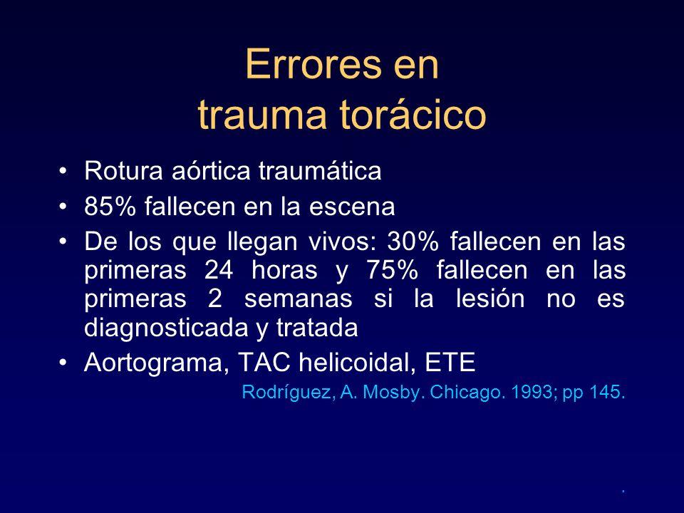 Errores en trauma torácico