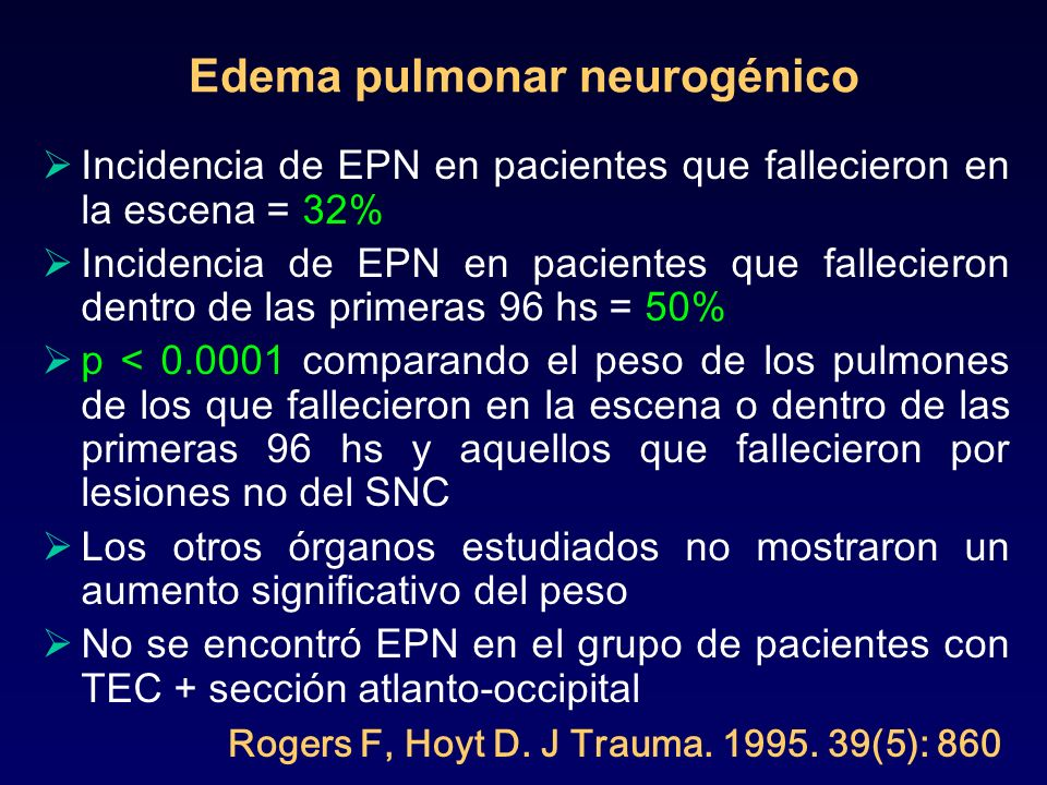 Edema pulmonar neurogénico