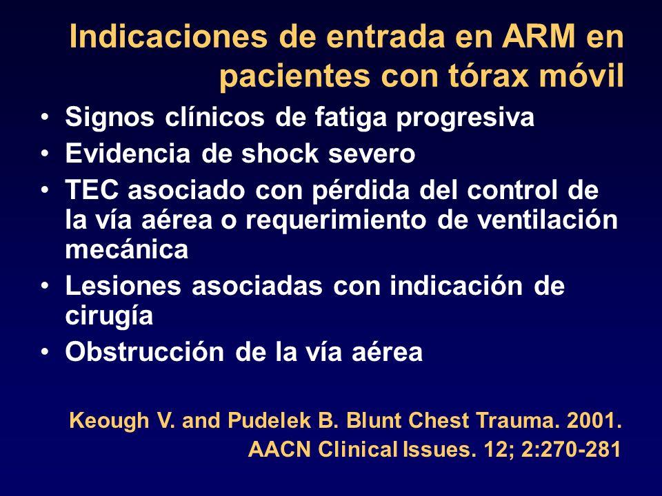 Indicaciones de entrada en ARM en pacientes con tórax móvil