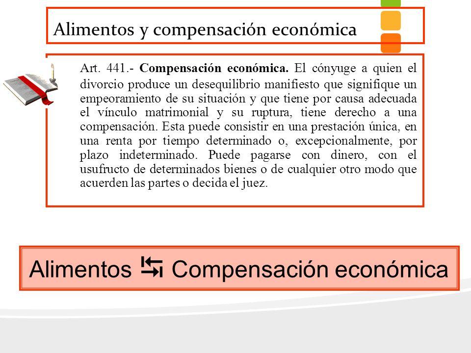 Alimentos y compensación económica