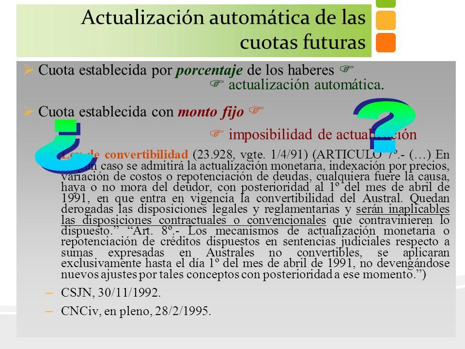 Actualización automática de las cuotas futuras