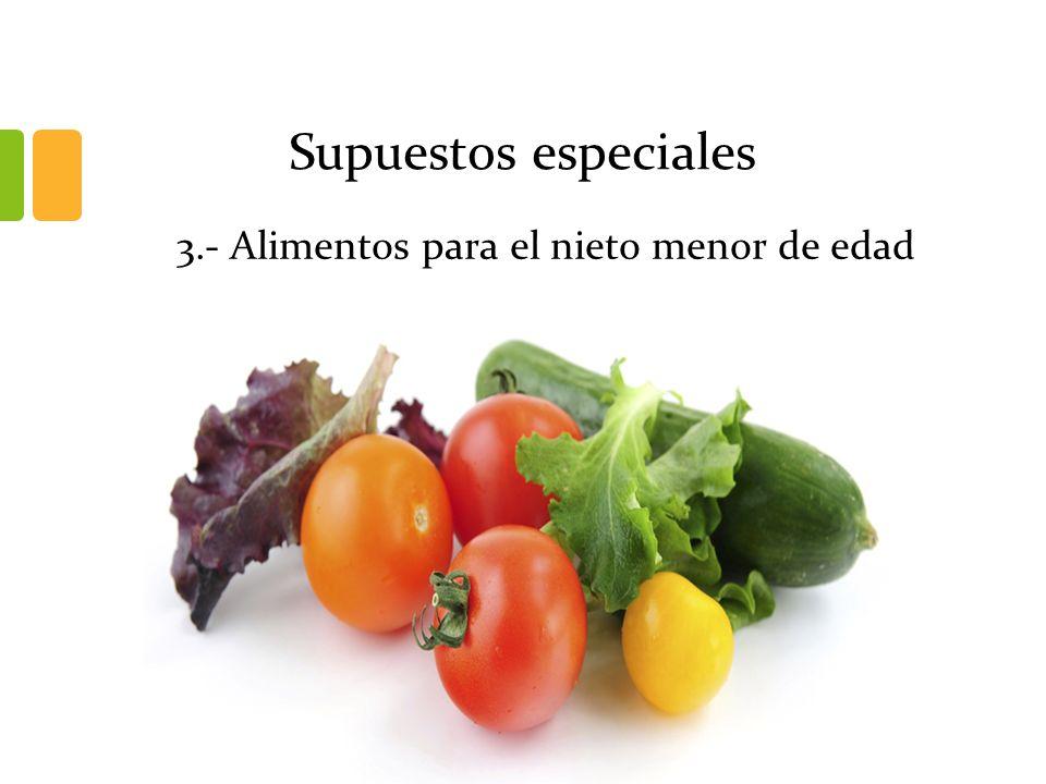 3.- Alimentos para el nieto menor de edad