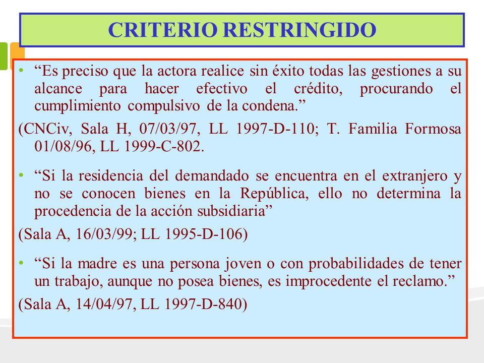 CRITERIO RESTRINGIDO