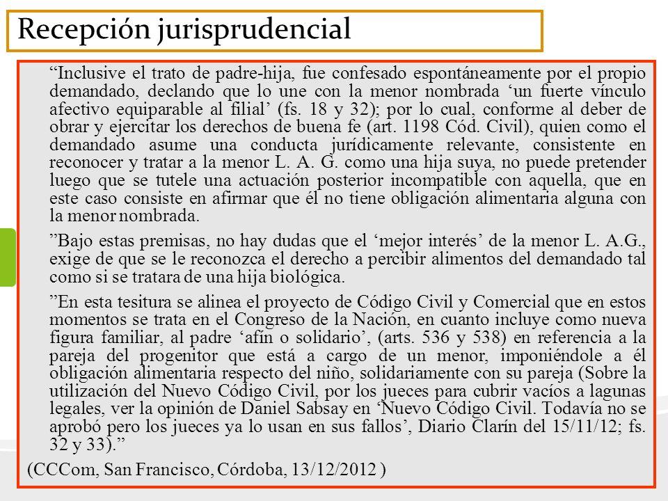 Recepción jurisprudencial