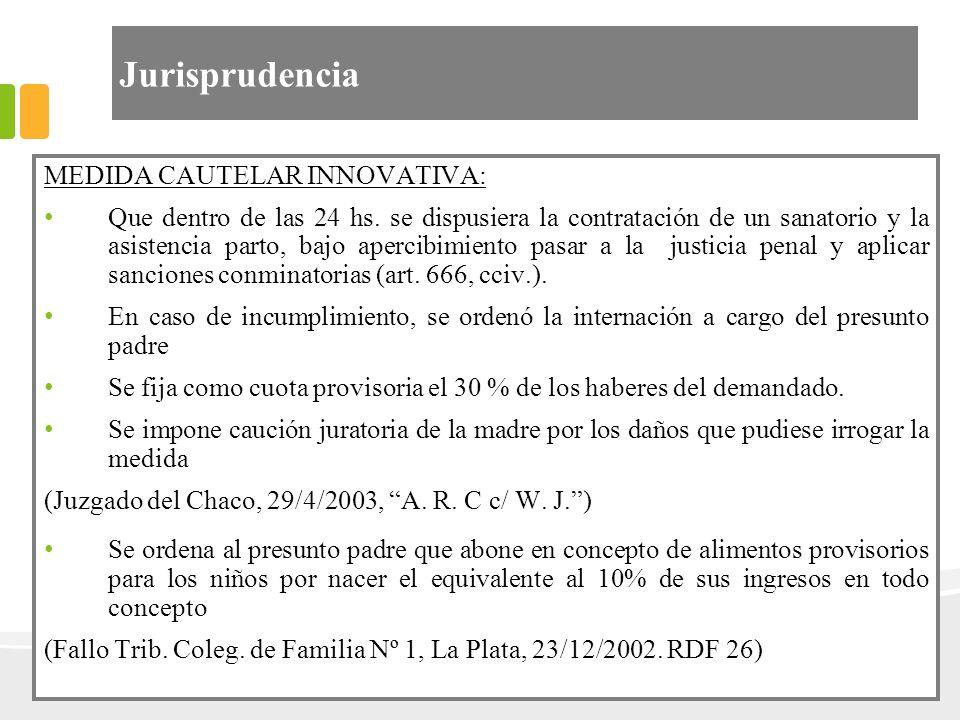 Jurisprudencia MEDIDA CAUTELAR INNOVATIVA: