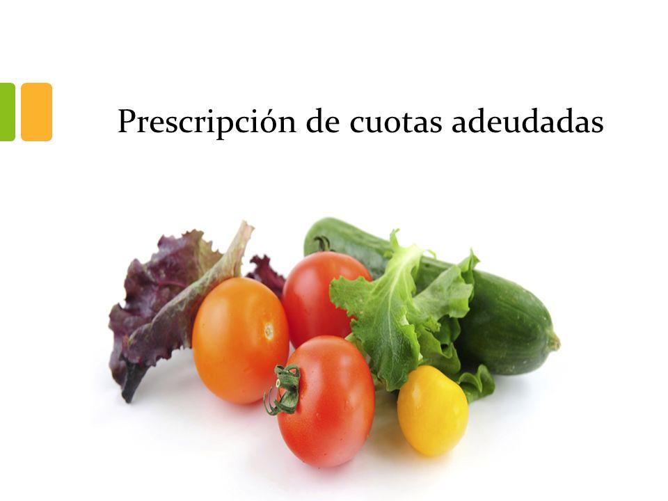 Prescripción de cuotas adeudadas
