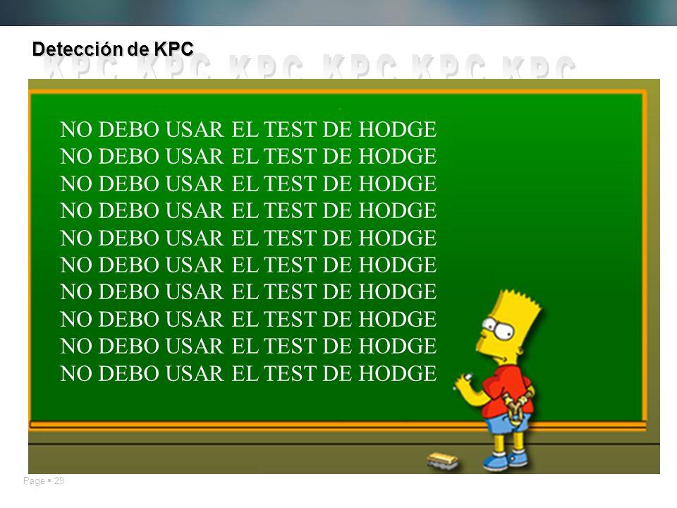 Detección de KPC KPC NO DEBO USAR EL TEST DE HODGE