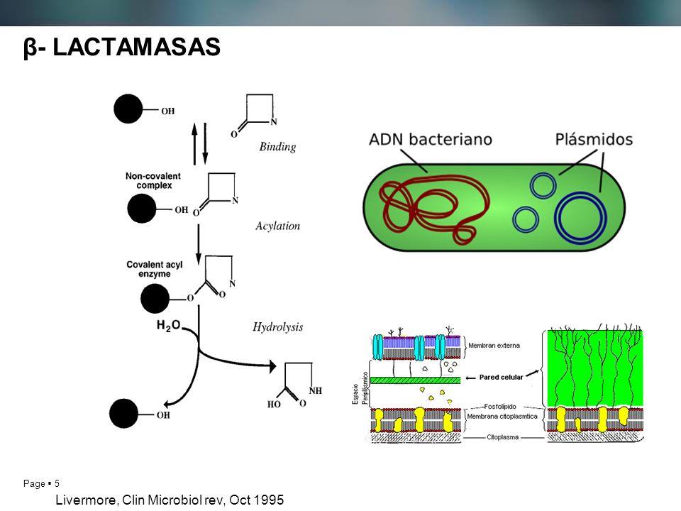 β- LACTAMASAS Livermore, Clin Microbiol rev, Oct 1995 5