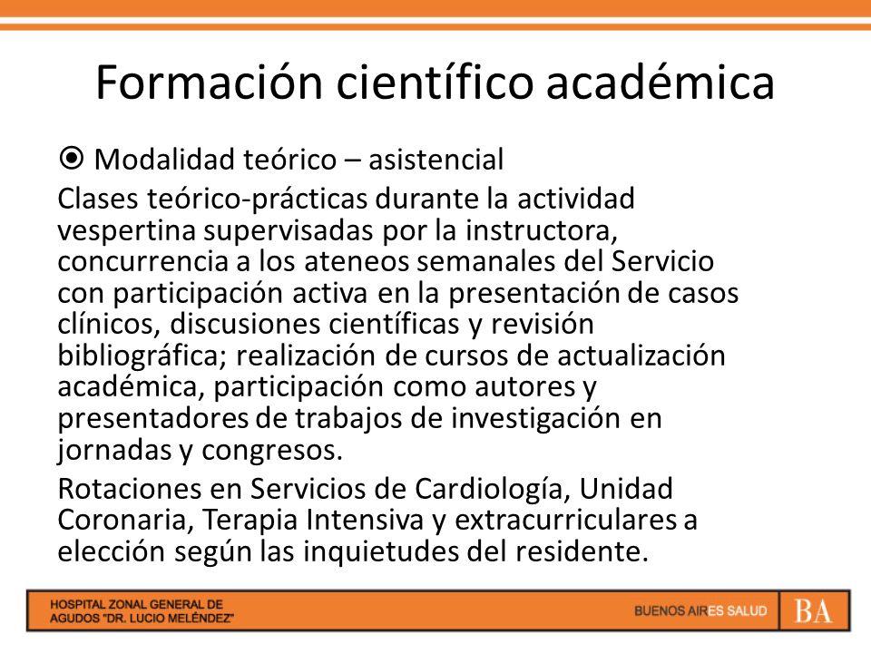 Formación científico académica
