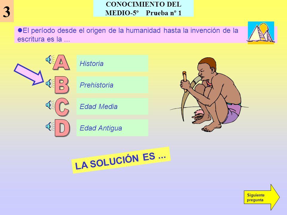 CONOCIMIENTO DEL MEDIO-5º Prueba nº 1