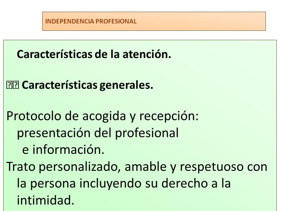 Características de la atención.