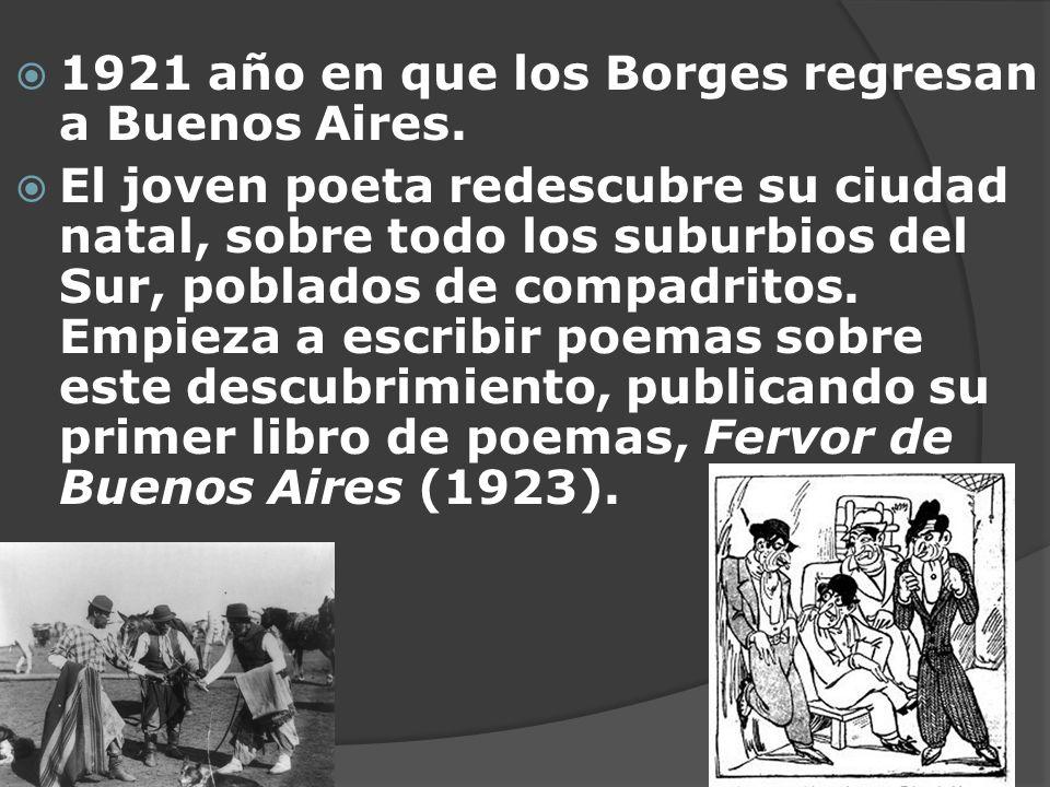 1921 año en que los Borges regresan a Buenos Aires.