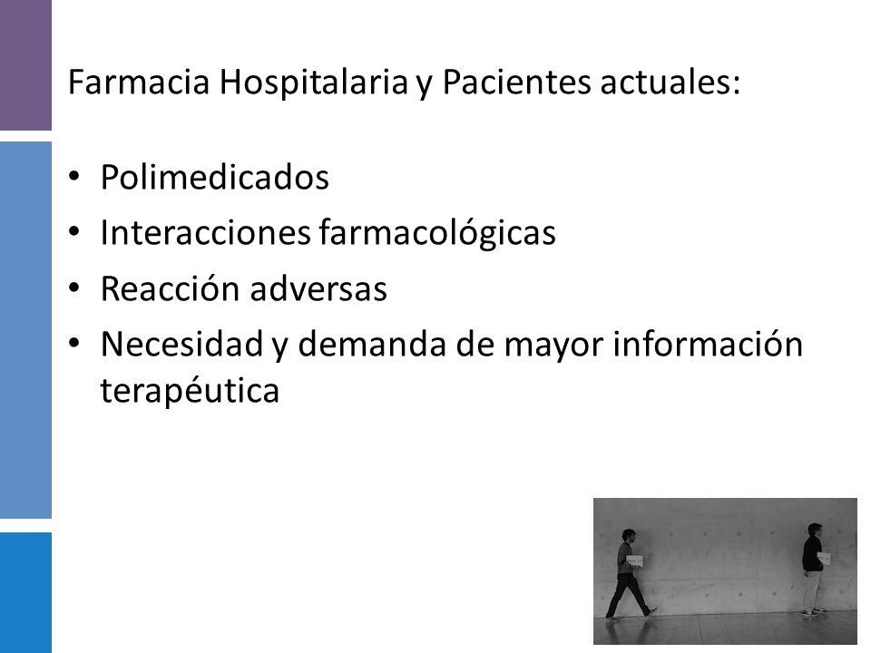 Farmacia Hospitalaria y Pacientes actuales: