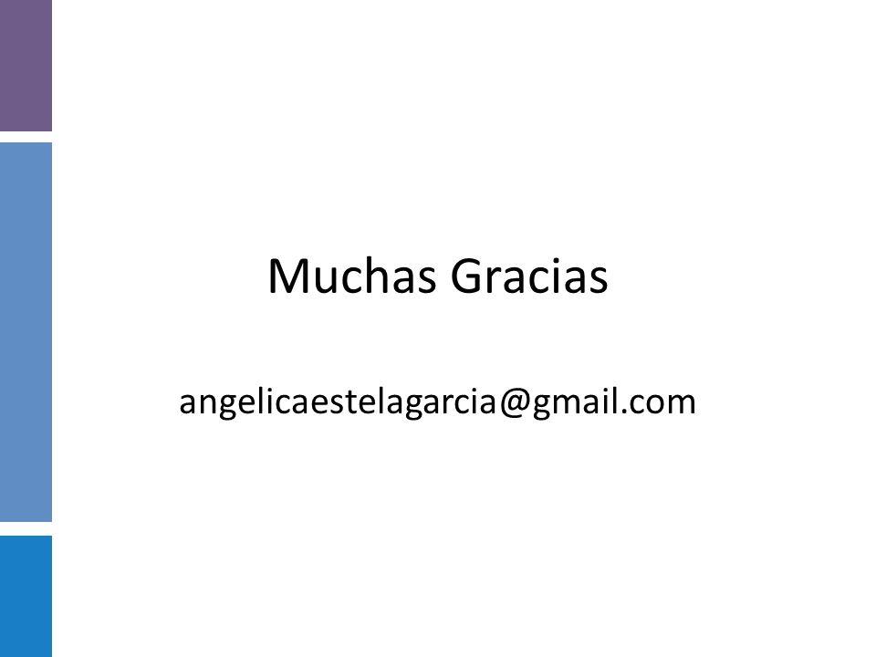 Muchas Gracias angelicaestelagarcia@gmail.com