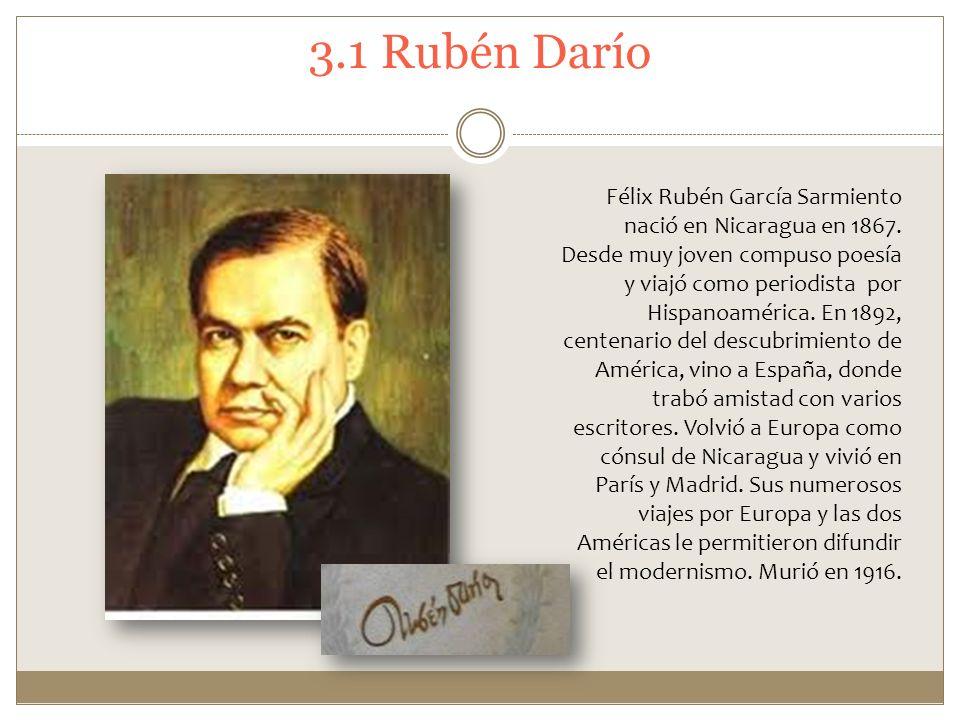 3.1 Rubén Darío