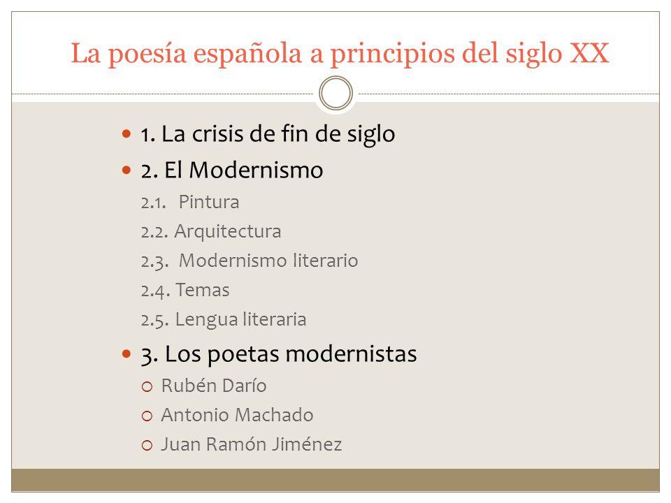 La poesía española a principios del siglo XX
