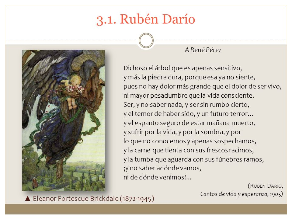 3.1. Rubén Darío ▲ Eleanor Fortescue Brickdale (1872-1945)