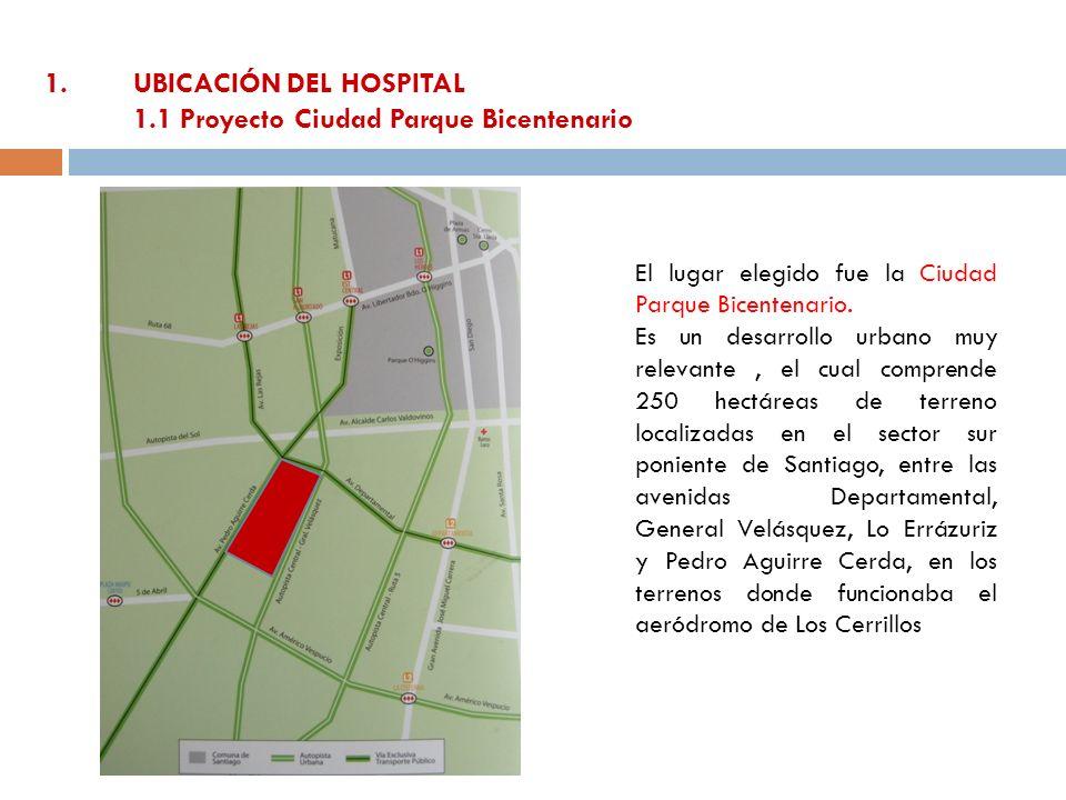1. UBICACIÓN DEL HOSPITAL 1.1 Proyecto Ciudad Parque Bicentenario