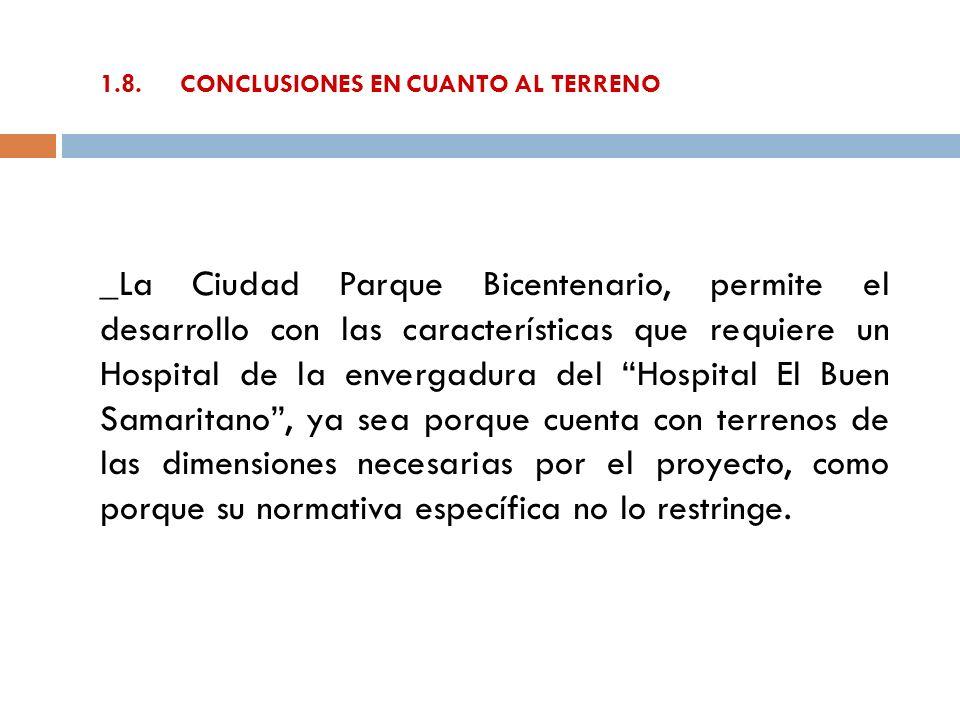 1.8. CONCLUSIONES EN CUANTO AL TERRENO