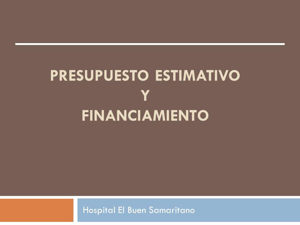 PRESUPUESTO ESTIMATIVO Y FINANCIAMIENTO