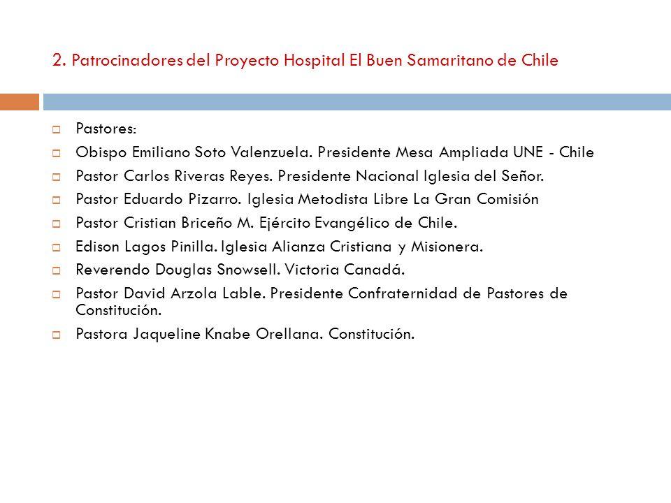 2. Patrocinadores del Proyecto Hospital El Buen Samaritano de Chile