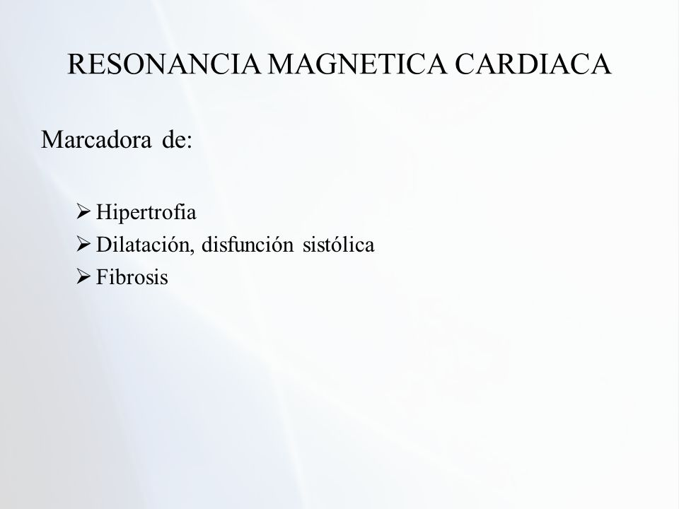 RESONANCIA MAGNETICA CARDIACA