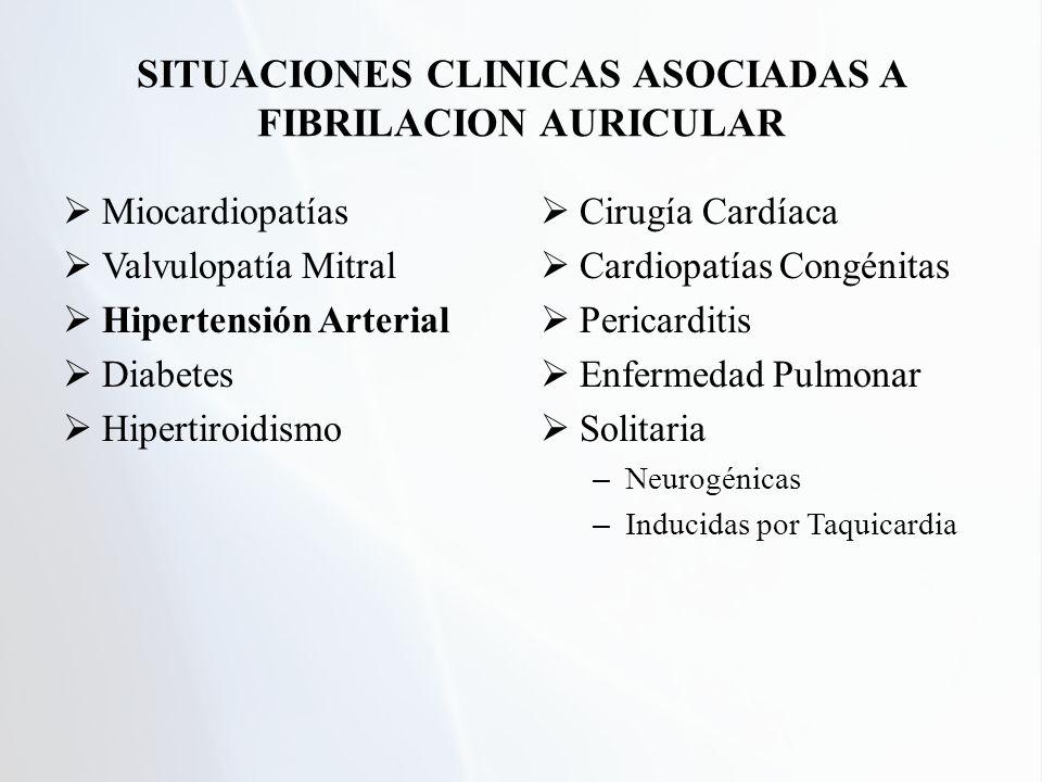 SITUACIONES CLINICAS ASOCIADAS A FIBRILACION AURICULAR