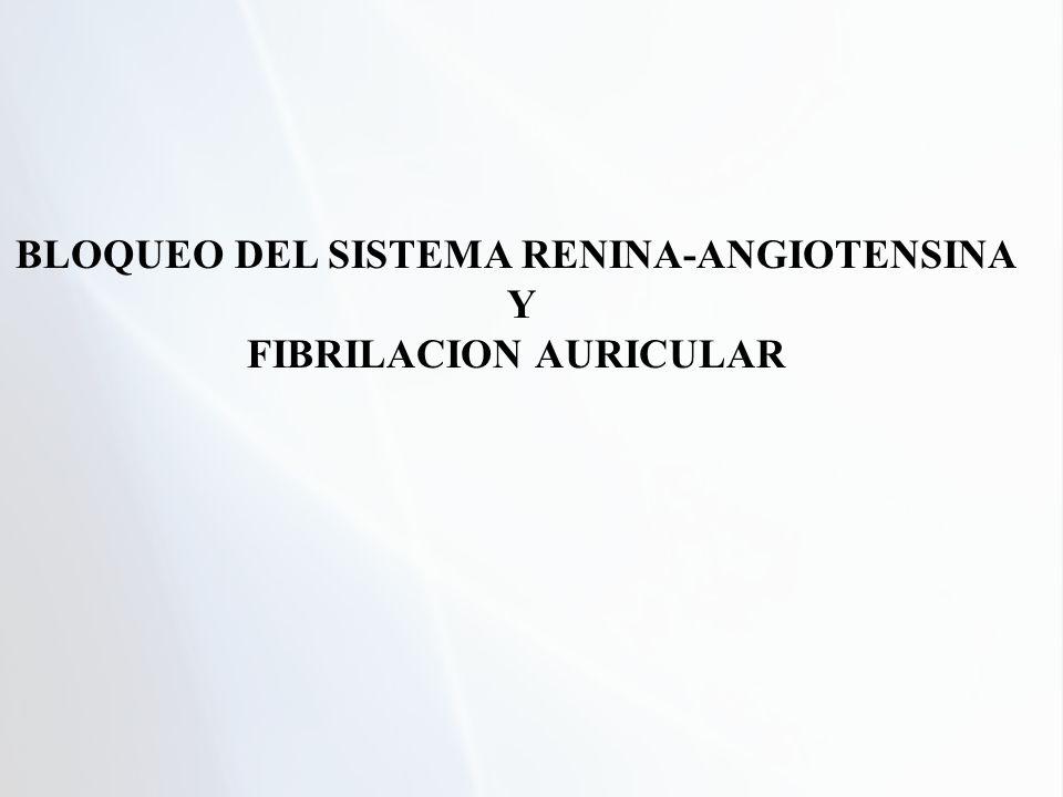 BLOQUEO DEL SISTEMA RENINA-ANGIOTENSINA FIBRILACION AURICULAR