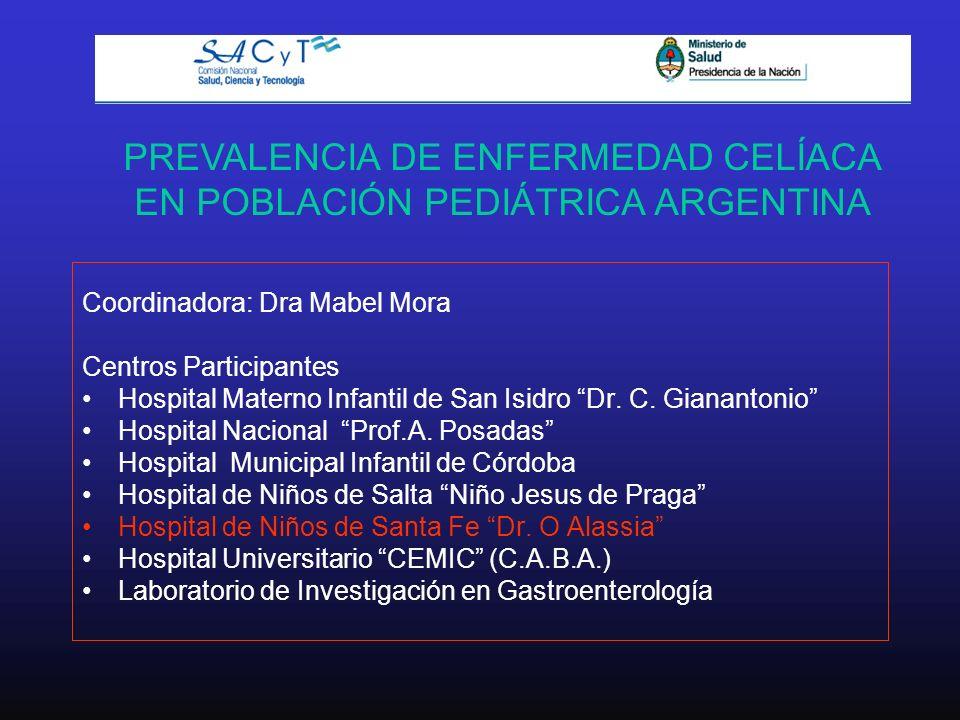PREVALENCIA DE ENFERMEDAD CELÍACA EN POBLACIÓN PEDIÁTRICA ARGENTINA