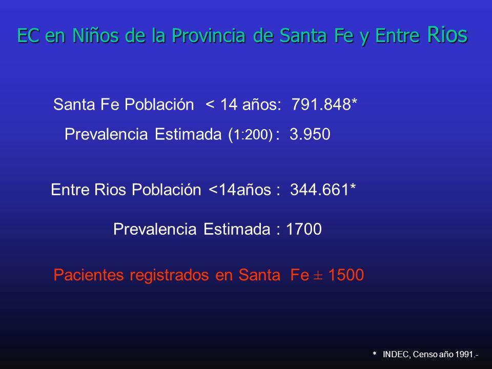 EC en Niños de la Provincia de Santa Fe y Entre Rios