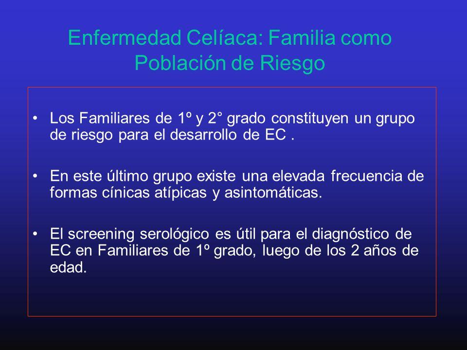 Enfermedad Celíaca: Familia como Población de Riesgo