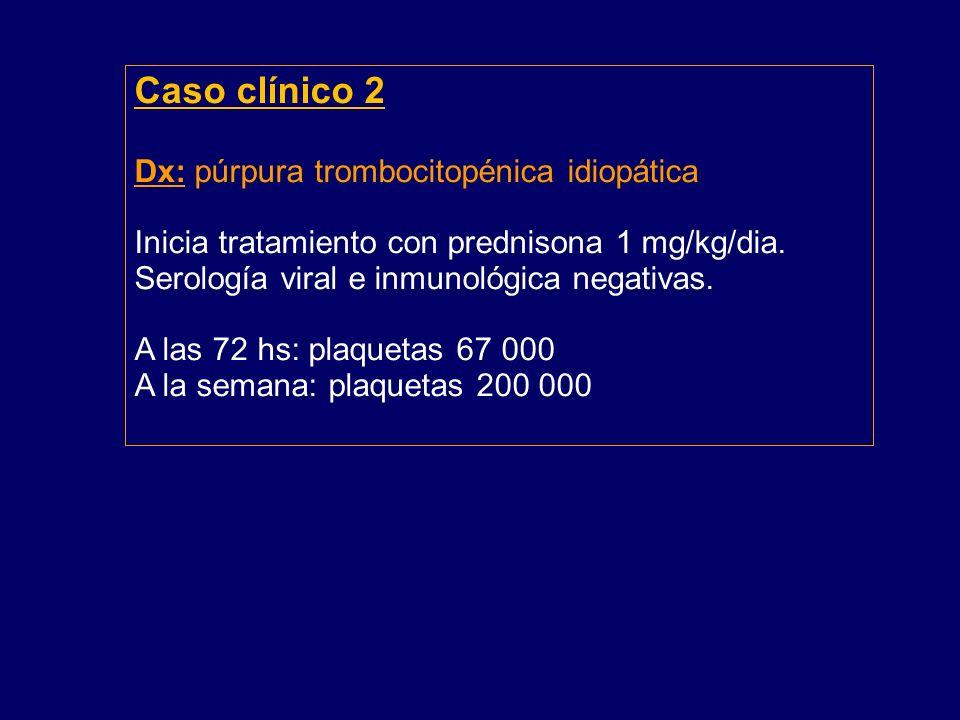 Caso clínico 2 Dx: púrpura trombocitopénica idiopática