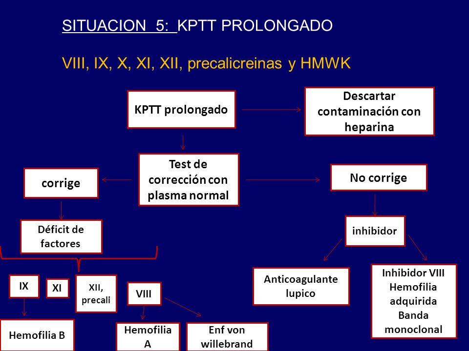SITUACION 5: KPTT PROLONGADO