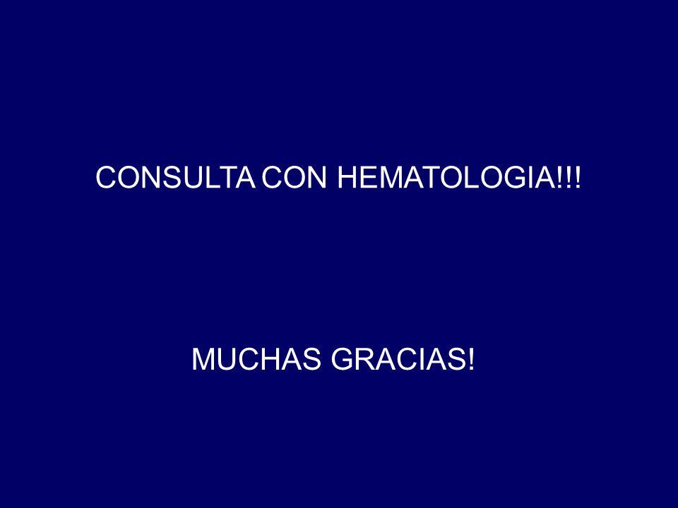 CONSULTA CON HEMATOLOGIA!!!
