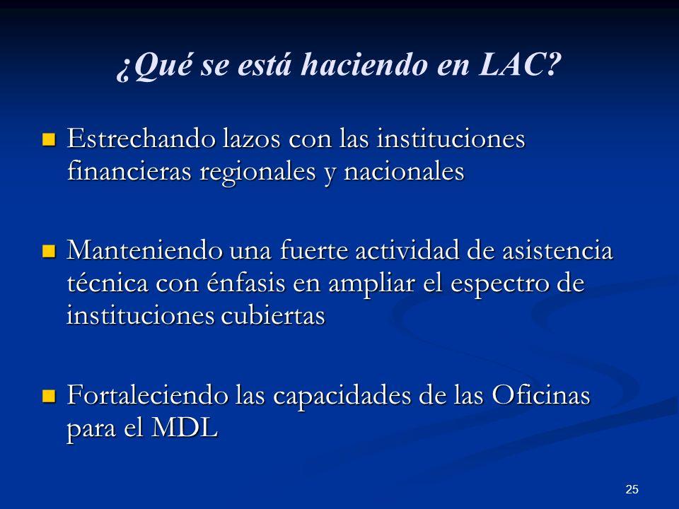 ¿Qué se está haciendo en LAC