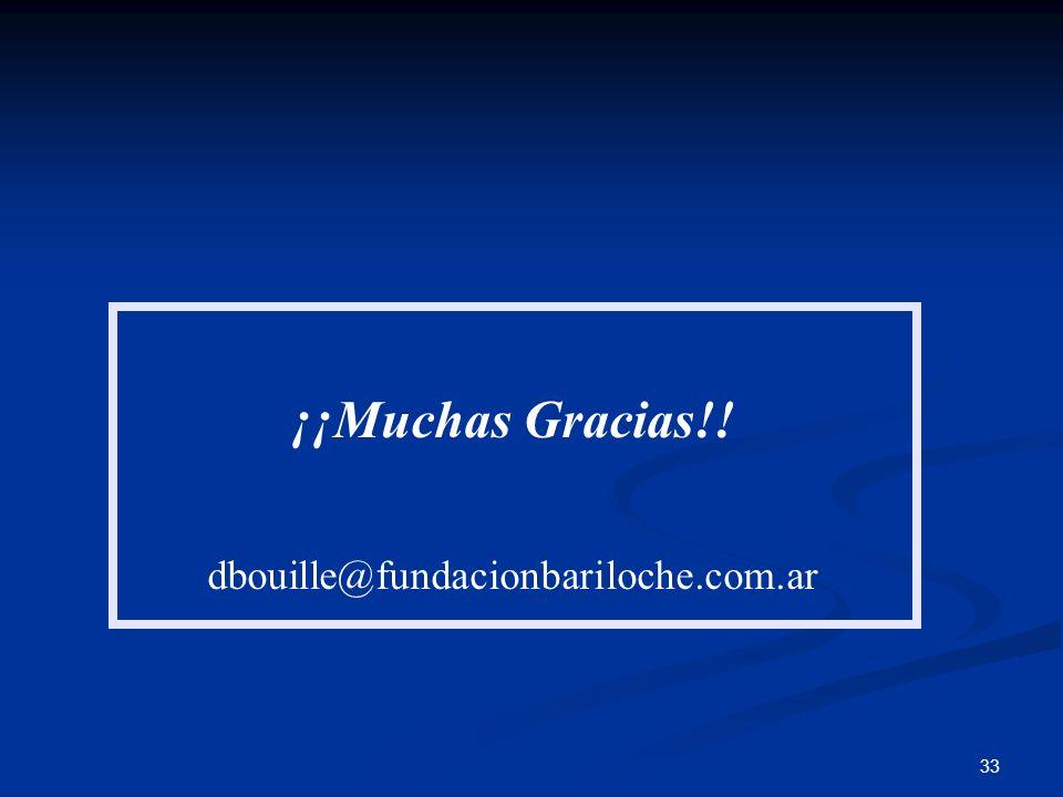 ¡¡Muchas Gracias!! dbouille@fundacionbariloche.com.ar