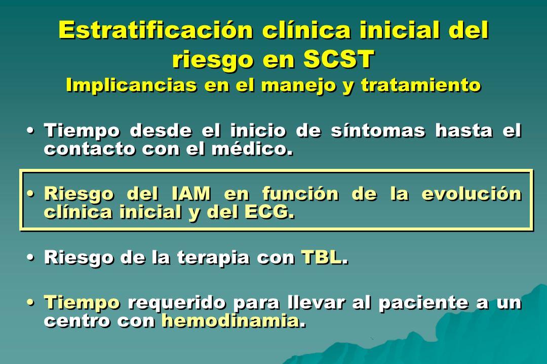 Estratificación clínica inicial del riesgo en SCST Implicancias en el manejo y tratamiento