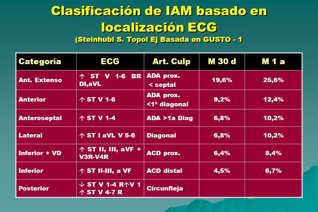 Clasificación de IAM basado en localización ECG (Steinhubl S