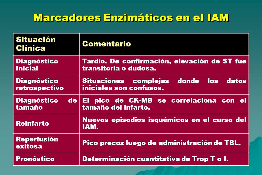 Marcadores Enzimáticos en el IAM