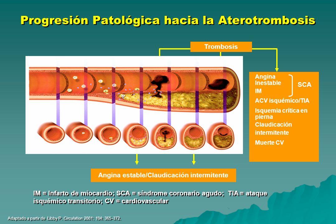 Progresión Patológica hacia la Aterotrombosis