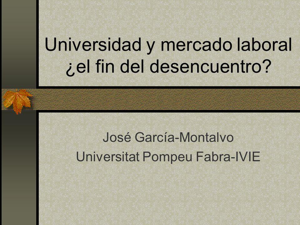 Universidad y mercado laboral ¿el fin del desencuentro