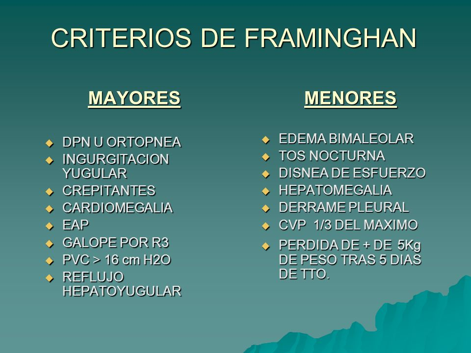 CRITERIOS DE FRAMINGHAN