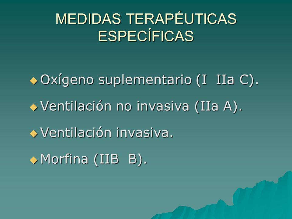 MEDIDAS TERAPÉUTICAS ESPECÍFICAS