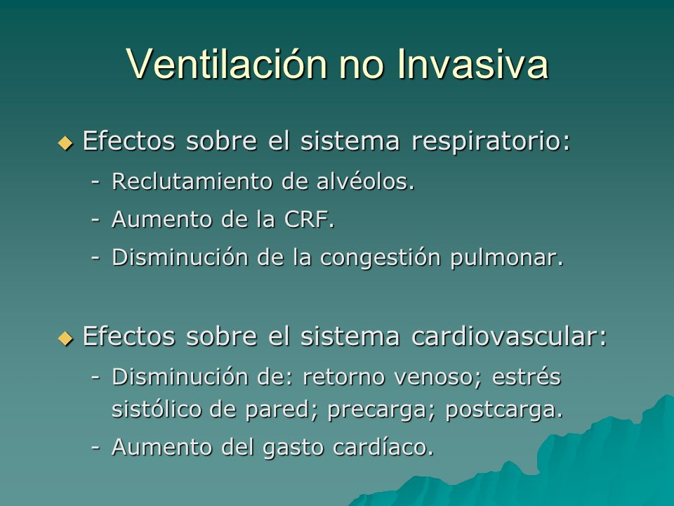 Ventilación no Invasiva