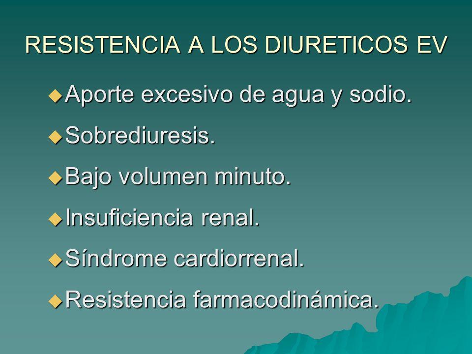 RESISTENCIA A LOS DIURETICOS EV
