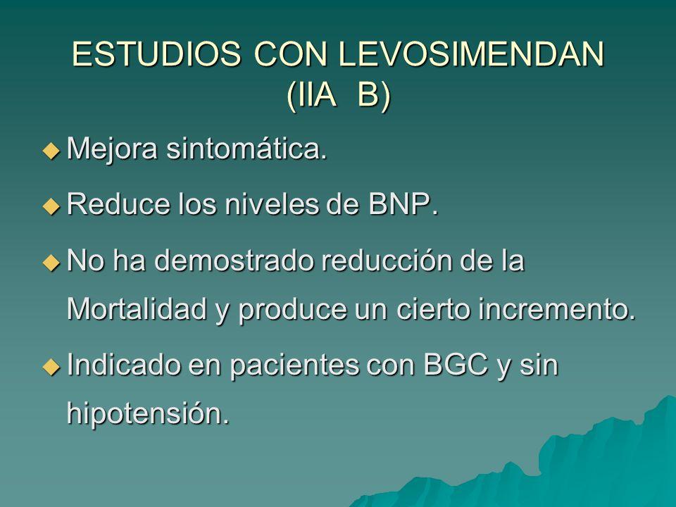 ESTUDIOS CON LEVOSIMENDAN (IIA B)
