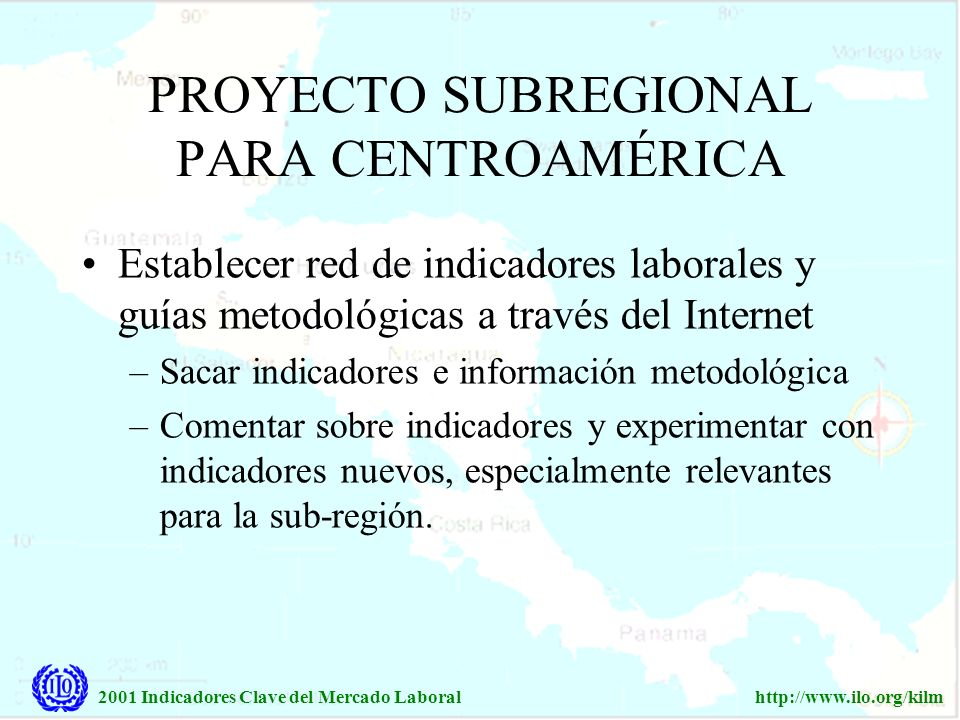 PROYECTO SUBREGIONAL PARA CENTROAMÉRICA
