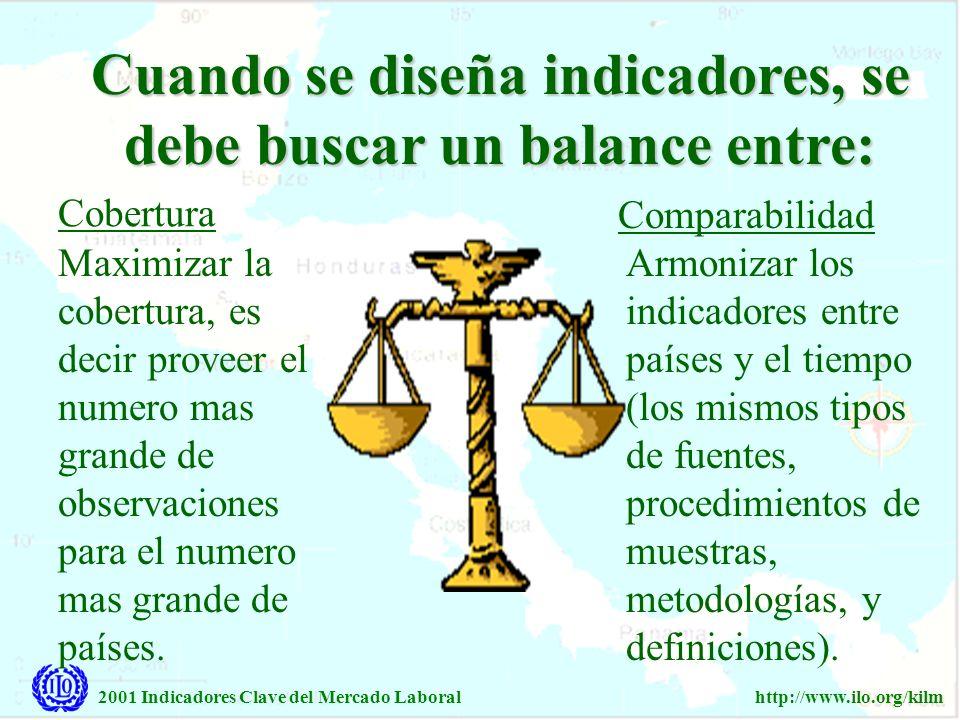 Cuando se diseña indicadores, se debe buscar un balance entre: